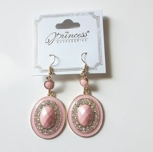 Princess Accessories Light Pink Dangle Earrings